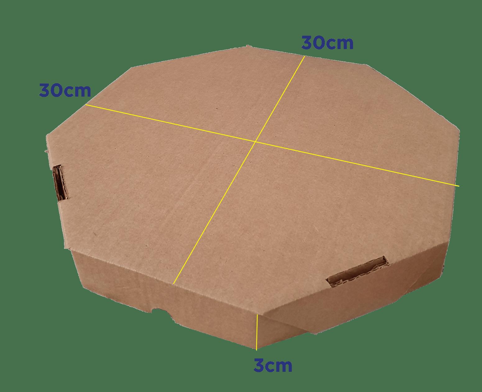 CAIXA DE PIZZA M - PZ30 -30 x 30 x 3cm - PACK C/25 UND