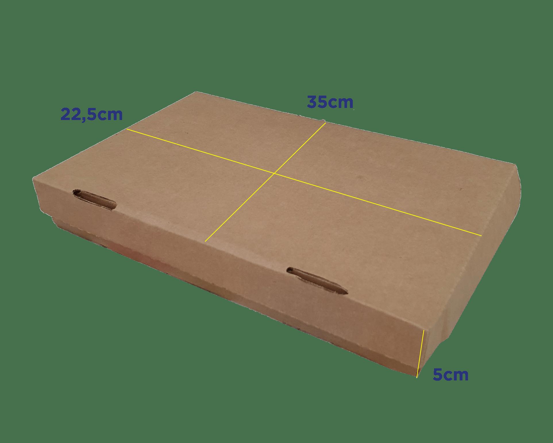 CAIXA RETANGULAR M - 35 x 22,5 x 5cm - PACK C/25 UND