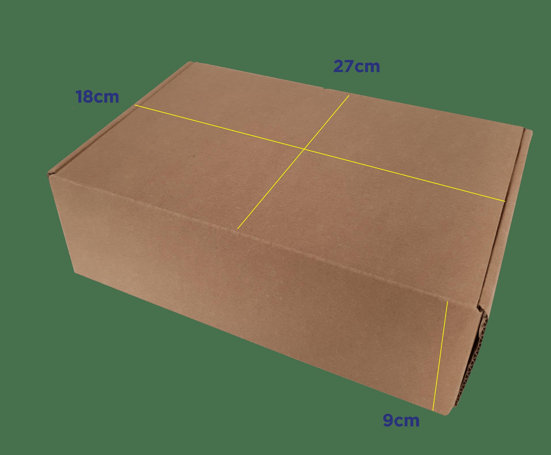 CAIXA E-COMMERCE M - 27 x 18 x 9cm - PACK C/25 UND