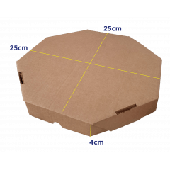 CAIXA DE PIZZA P - PZ25 -  25 x 25 x 4cm - PACK C/25 UND