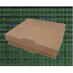 CAIXA QUADRADA M - 22,5 x 17,5 x 5cm - PACK C/25 UND